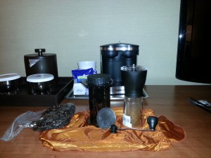 My hotel coffee kit