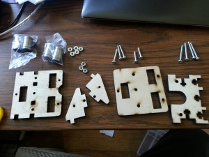 X-carriage parts.